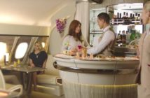 From intimate lighting and leather seating to sit up bars with attentive barkeeps, we check out which airlines offer the best cocktail bars in the skies.
