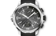"""The new IWC Aquatimer Chronograph """"Sharks"""" edition coincides with the launch of American photographer Michael Muller's TASCHEN book on the aquatic predator."""