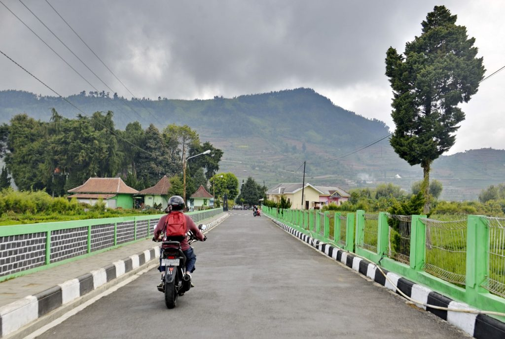 Nick Walton assembles the boys and takes to two wheels to explore the volcanic peaks of central Java. Credit: Nick Walton
