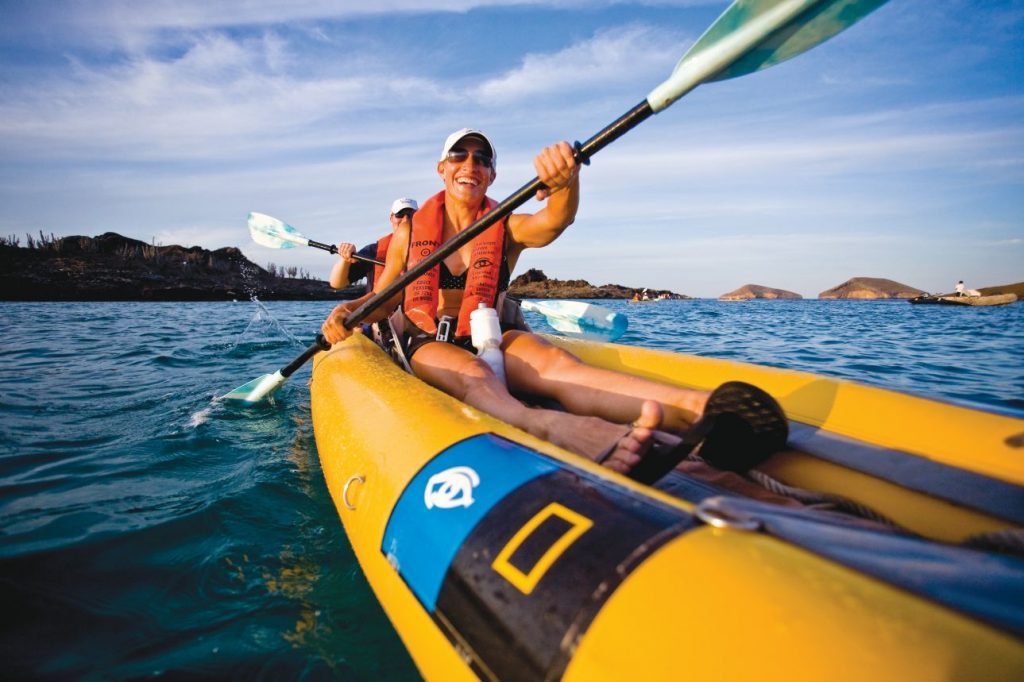 Kayaking in Galapagos, Ecuador, Santiago Island