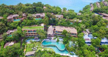 sri panwa phuket aerial shot