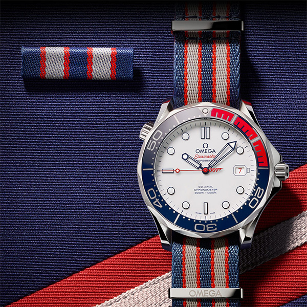 """Omega has created the limited-edition Seamaster Diver 300M """"Commander's Watch"""", a new timepiece that celebrates the rank and regalia of James Bond."""