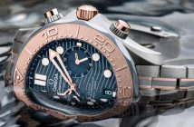 Omega has created a new take on its Seamaster Diver 300M chronograph, using a striking blend of gold, titanium, and tantalum, a metal it first debuted in 1993.