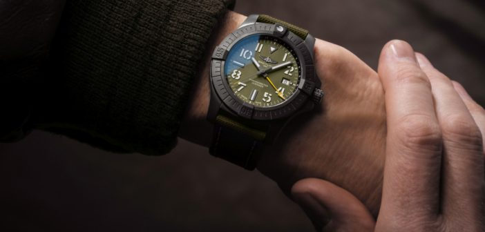Limited to 2000 units, Breitling's new camo-cool Avenger Automatic GMT 45 Night Mission is exclusive to China and Southeast Asia.