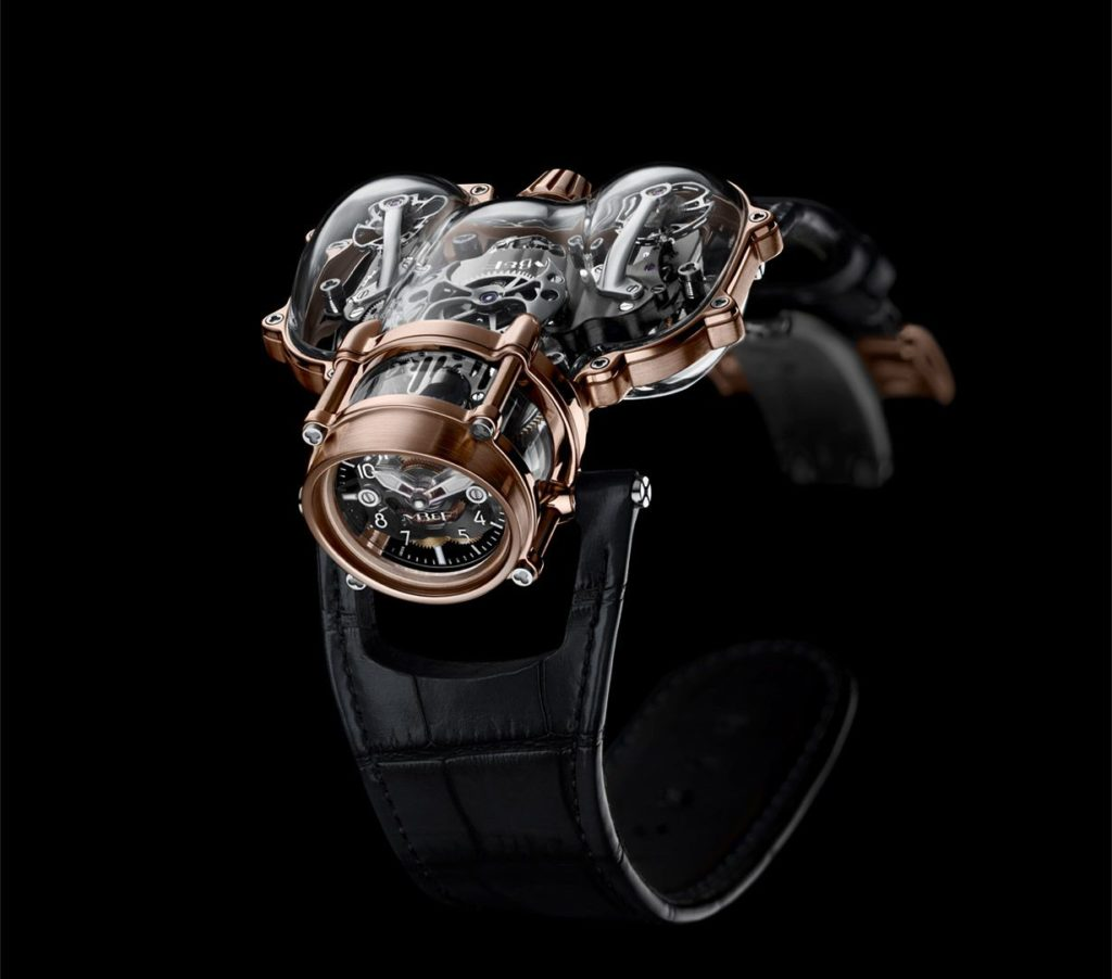 Innovating watchmakers MB&F presents Horological Machine N°9 'Sapphire Vision', a striking rendition of its iconic HM9 'Flow' timepiece.