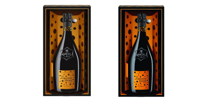 In time for Valentine's Day celebrations, Veuve Clicquot and artist Yayoi Kusama release a very special take on its house's La Grande Dame 2012 vintage.