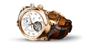 IWC's new Da Vinci Tourbillon Rétrograde Chronograph combines the coveted features of a classic tourbillon, a chronograph, and a retrograde date in one stunning timepiece.