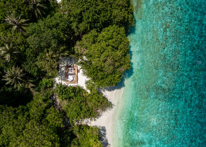 Amilla Maldives Resort & Residences has created the archipelago's ultimate glamping experience, complete with a private chef and plunge pool.