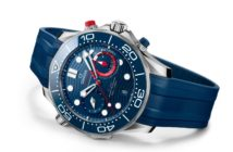 Omega continues its partnership with the America's Cup yacht race series with the new OMEGA Seamaster Diver 300M America's Cup Chronograph.