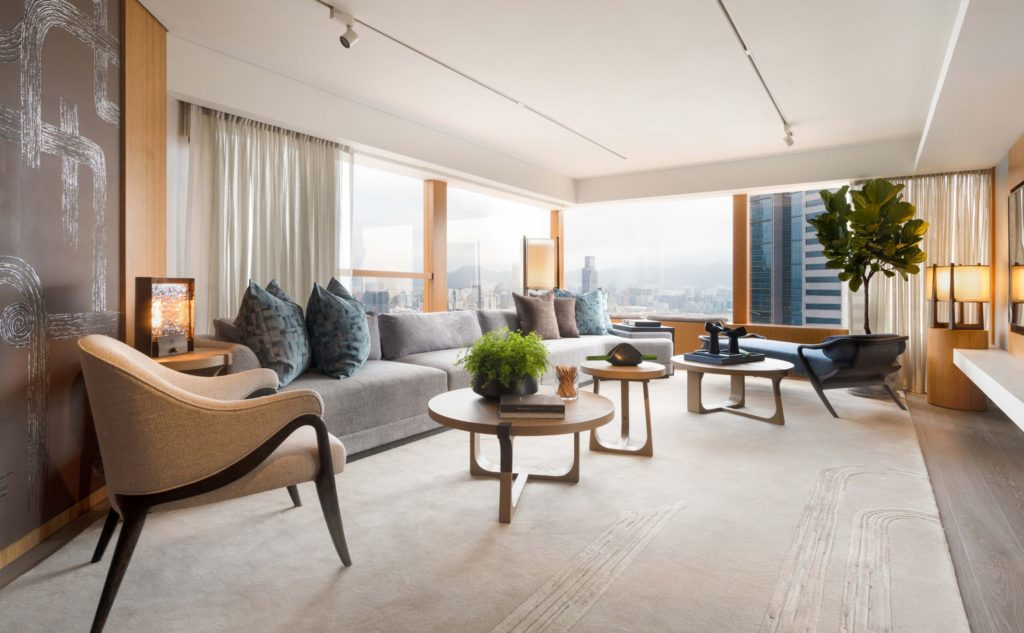 Upper House, one of Hong Kong's most luxurious hotels, has created a stunning new suite by designer André Fu.