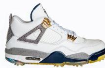 A new collaboration between lifestyle brand and kicks guru has created the East Golf Air Jordan Retro IV golf shoe.