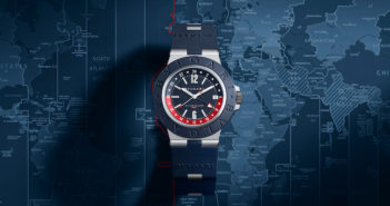 Bulgari continues its stylish timepiece collection with the addition of the Bulgari Aluminium GMT.